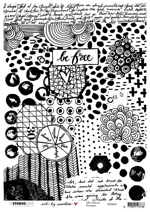 Art By Marlene - Rice Paper #01 (A4 Sheet)