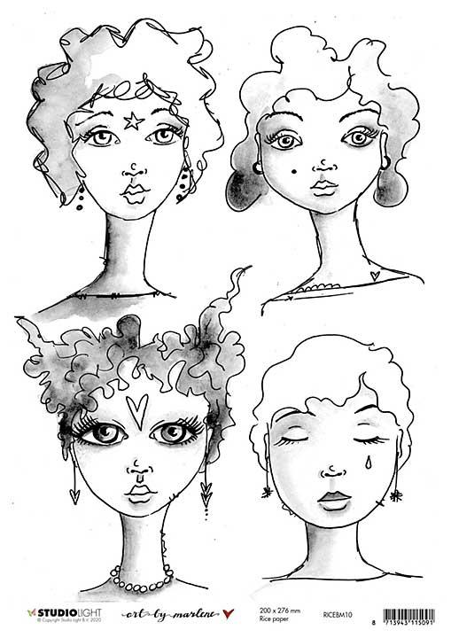 Art By Marlene - Rice Paper #10 (A4 Sheet)