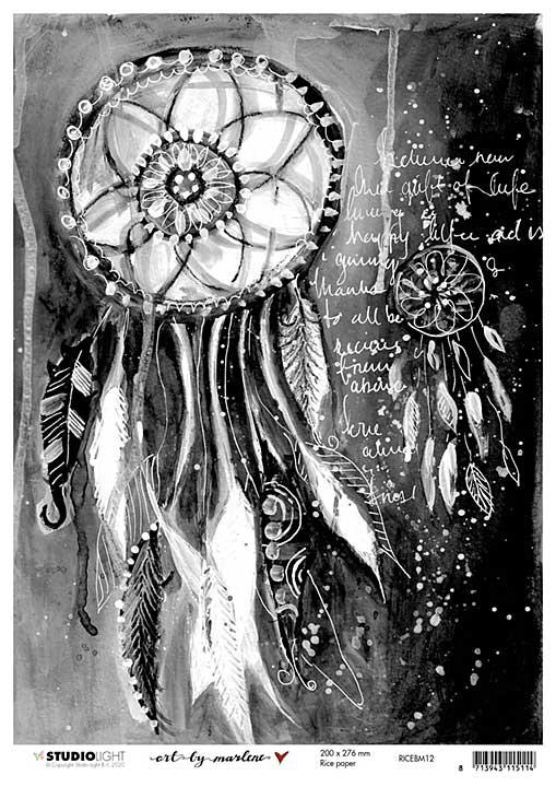 Art By Marlene - Rice Paper #12 (A4 Sheet)