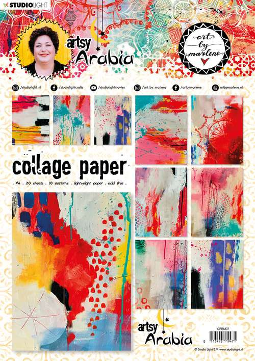 Art By Marlene - Collage Paper #07, Artsy Arabia (A4, 20pk, 10 Designs, 2 each)