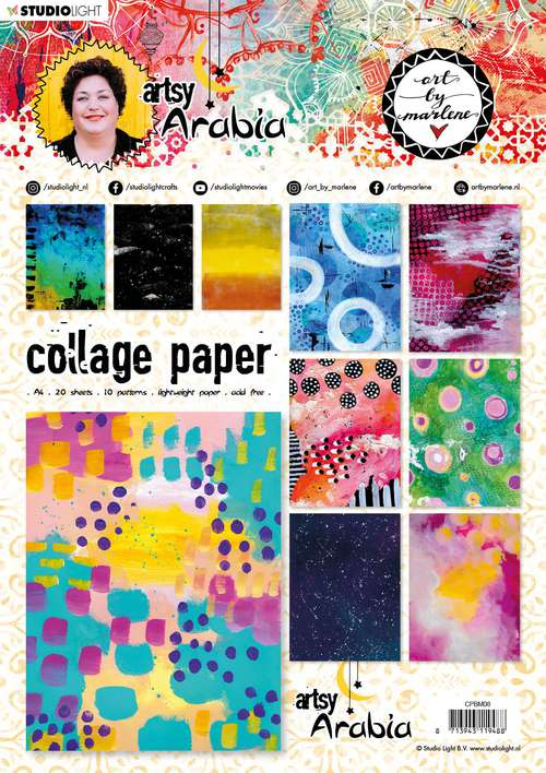 Art By Marlene - Collage Paper #08, Artsy Arabia (A4, 20pk, 10 Designs, 2 each)