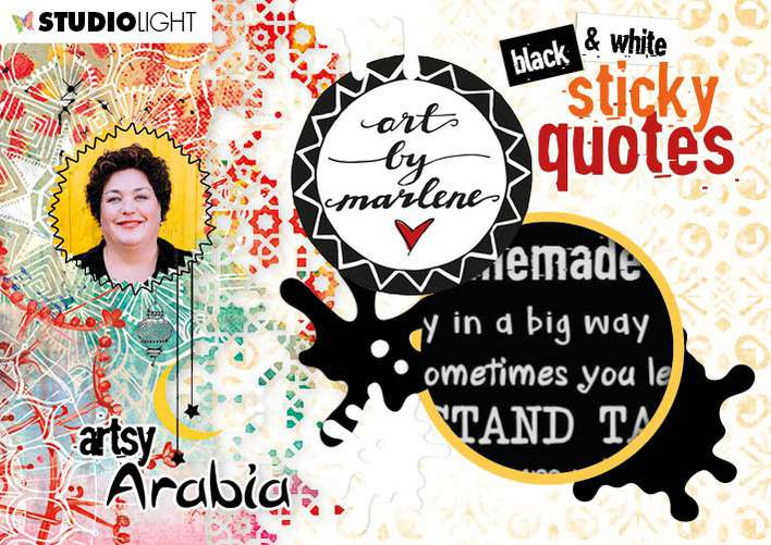 Studio Light Art By Marlene Sticker Book - Artsy Arabia (20pk)