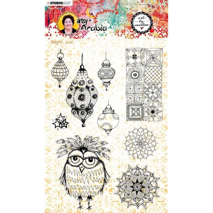 Studio Light - Art By Marlene - Night Owl, Clear Stamps #59, Artsy Arabia