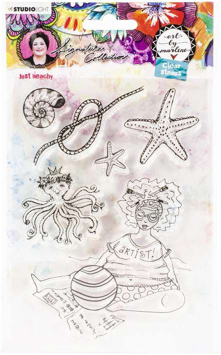 Studio Light - Art By Marlene - Just Beachy, Clear Stamps #53
