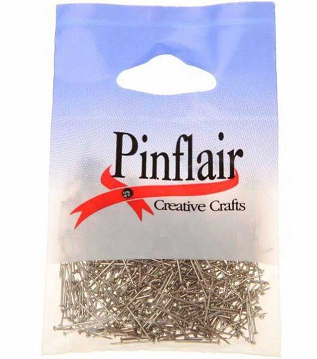Pinflair Half Inch Pins - Silver, 25g approx