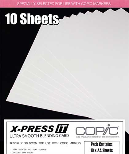 Copic X-Press It - Smooth Copic xPress Blending Card (10 Sheets A4)