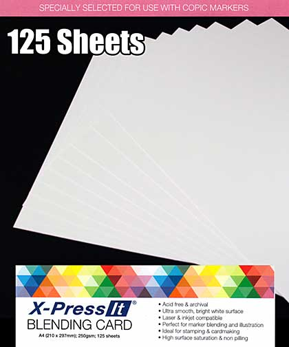 Copic X-Press It - Smooth Copic xPress Blending Card (125 sheets A4)
