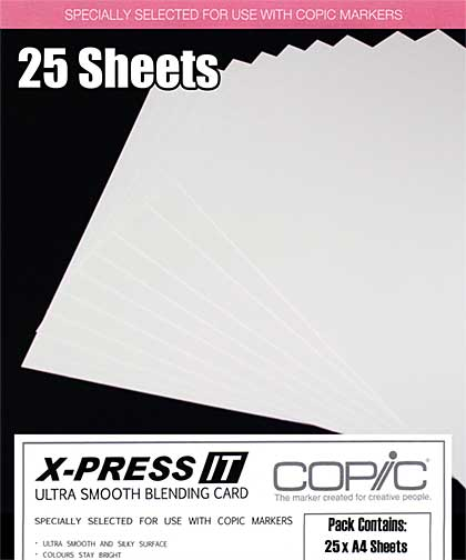 SO: Copic X-Press It - Smooth Copic xPress Blending Card (25 Sheets A4)