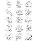 Dali Art - Circle and Square Sentiments Stamp Set