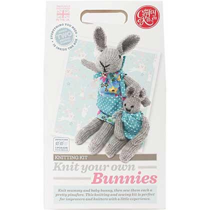 SO: The Crafty Kit Co. Knitting Kit - Bunnies