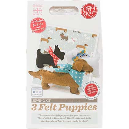 SO: The Crafty Kit Co. Sewing Kit - 3 Felt Puppies