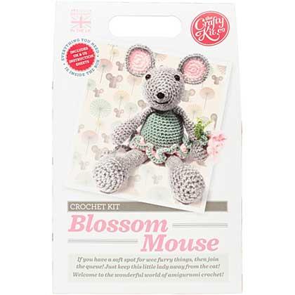 The Crafty Kit Co. Crochet Kit - Blossom Mouse