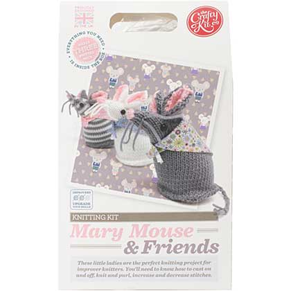 SO: The Crafty Kit Co. Knitting Kit - Mary Mouse and Friends