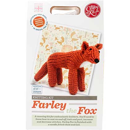 SO: The Crafty Kit Co. Knitting Kit - Farley Fox