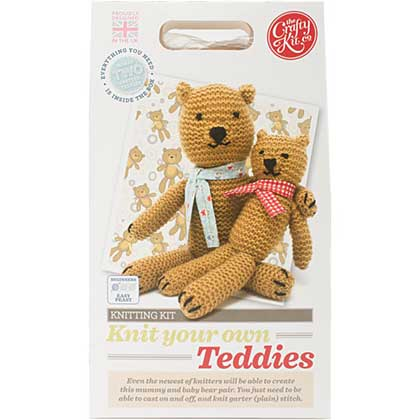 The Crafty Kit Co. Knitting Kit - Teddies