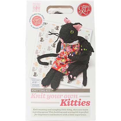 The Crafty Kit Co. Knitting Kit - Kitties