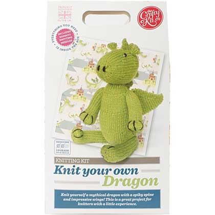 SO: The Crafty Kit Co. Knitting Kit - Dragon