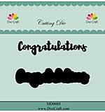 Dixi Craft Congratulations Cutting Die