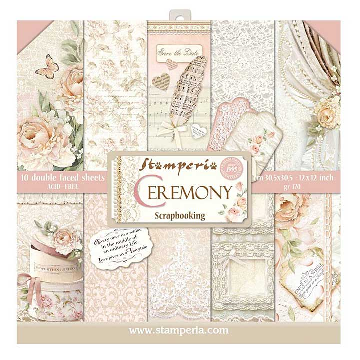 Stamperia Ceremony 12x12 Inch Paper Pack