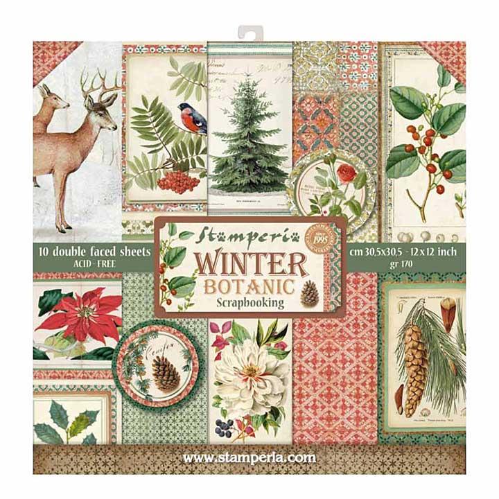 Stamperia Winter Botanic 12x12 Inch Paper Pack