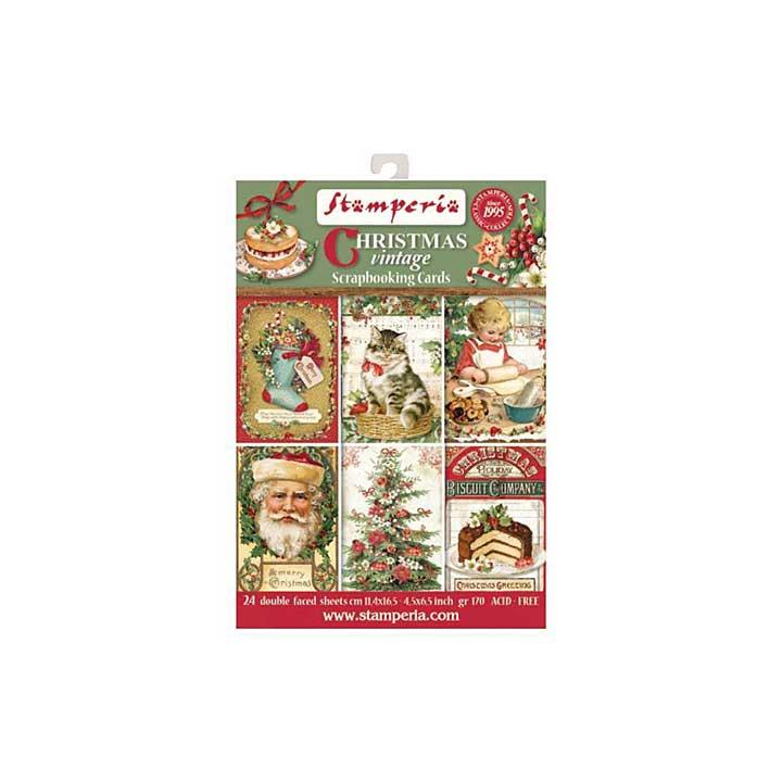 SO: Stamperia Christmas Vintage Scrapbooking Cards
