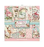 Stamperia Pink Christmas 8x8 Inch Paper Pack