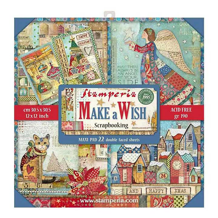 SO: Stamperia Make a Wish 12x12 Inch MAXI Paper Pack