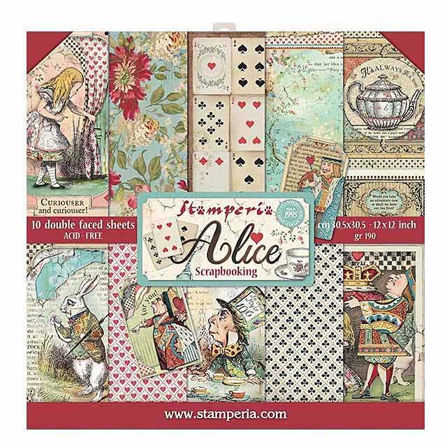 SO: Stamperia - Alice 12x12inch Paper Pack