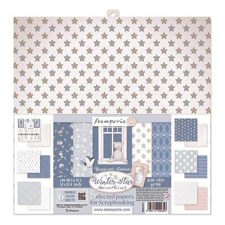 SO: Stamperia - Winter Star 12x12inch Paper Pack