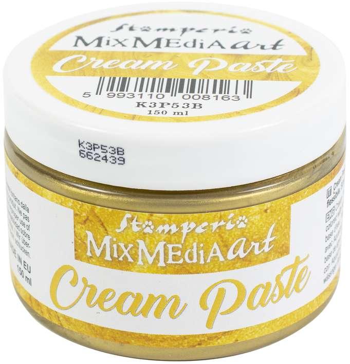 Stamperia Metallic Cream Paste 150ml - Gold