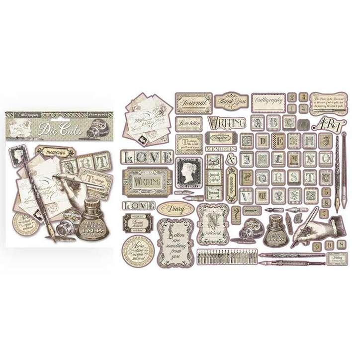 Stamperia Assorted Die Cuts - Calligraphy