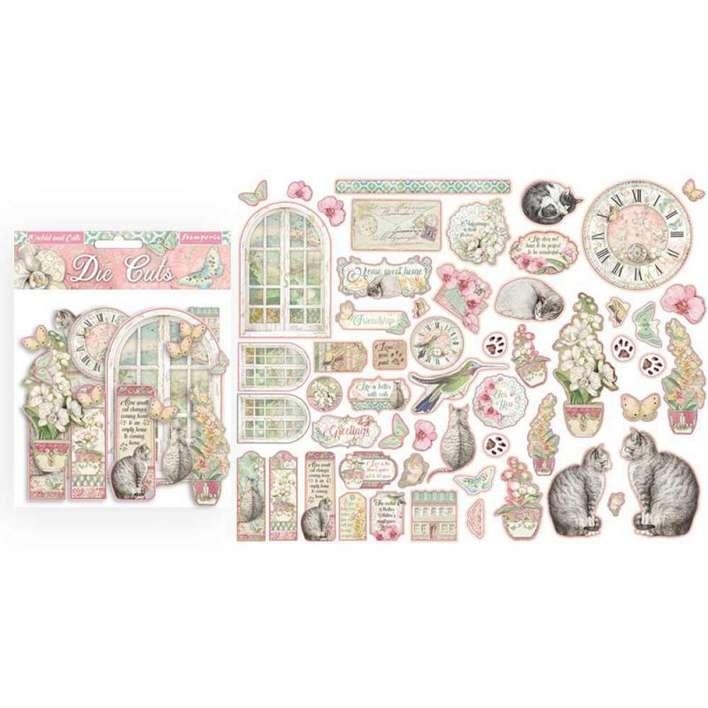 SO: Stamperia Assorted Die Cuts - Orchids And Cats