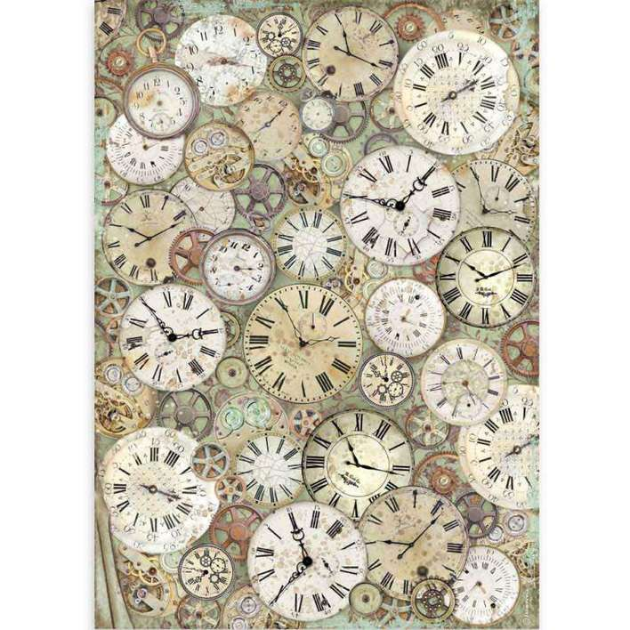 Stamperia A3 Rice Paper Lady Vagabond Clock and Mechanisms