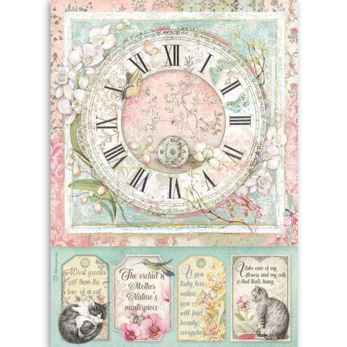 Stamperia A4 Rice Paper Clock
