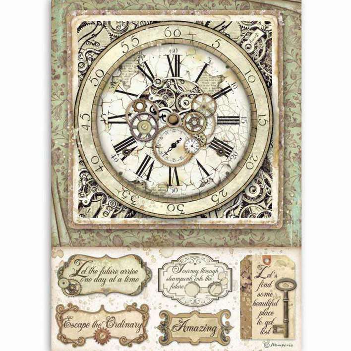 Stamperia A4 Rice Paper Lady Vagabond Clock With Mechanisms