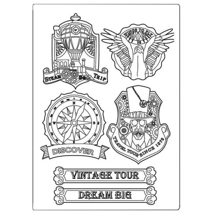 Stamperia Silicone Mould A5 Sir Vagabond Vintage Tour