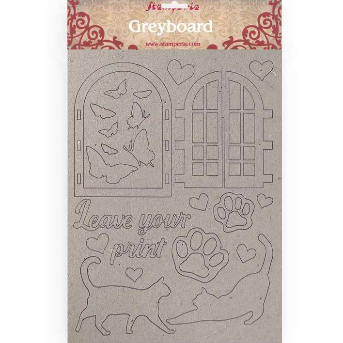 Stamperia A4 Greyboard 1mm - Leave Your Print