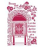 Stamperia G Stencil Lady Vagabond Dream (21 x 29.7cm)