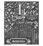 Stamperia Thick Stencil Dear Diary (20 x 25cm)