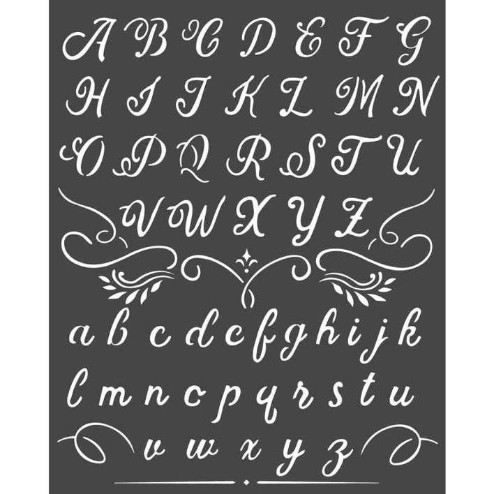 Stamperia Thick Stencil Alphabet (20 x 25cm)