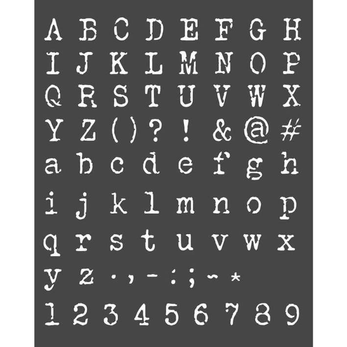 Stamperia Thick Stencil Alphabet And Numbers (20 x 25cm)