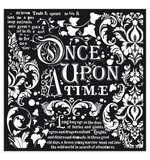 Stamperia Thick Stencil Once Upon A Time (30 x 30cm)
