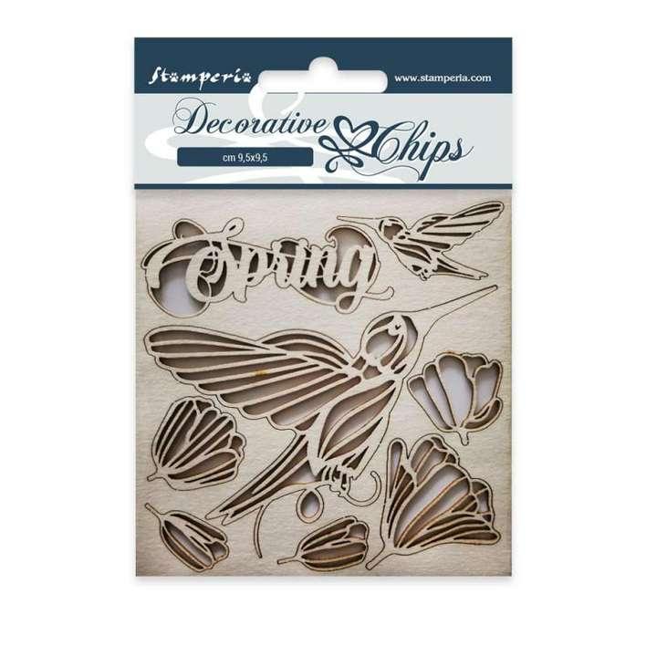 Stamperia Decorative Chips Spring (9.5 x 9.5cm)
