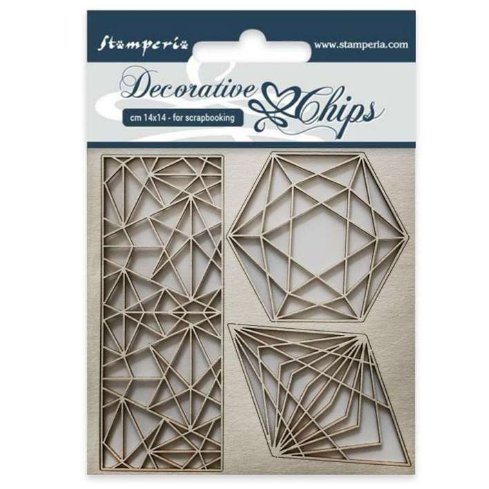 Stamperia Decorative Chips Geometry (14 x 14cm)