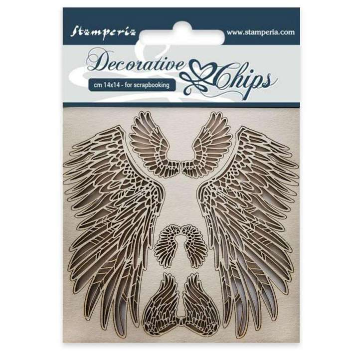 Stamperia Decorative Chips Wings (14 x 14cm)