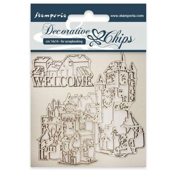 Stamperia Decorative Chips Welcome (14 x 14cm)