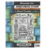 Stamperia Stamp Sir Vagabond The Traveler News (15 x 20cm)