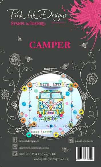 SO: Pink Ink Designs - Camper - A6 Clear Stamp Set
