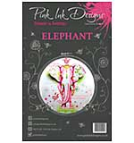 Pink Ink Designs - Elephant - A5 Clear Stamp Set