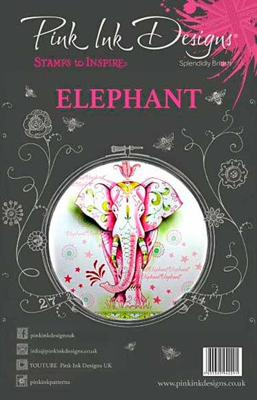 SO: Pink Ink Designs - Elephant - A5 Clear Stamp Set